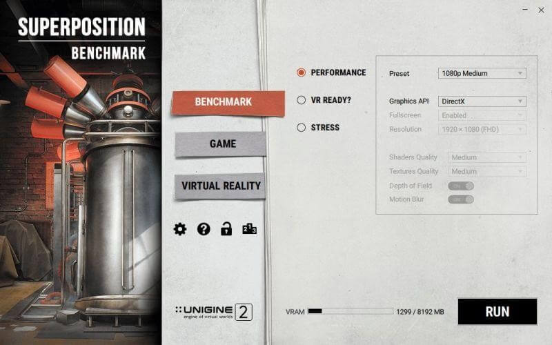 Superposition benchmark