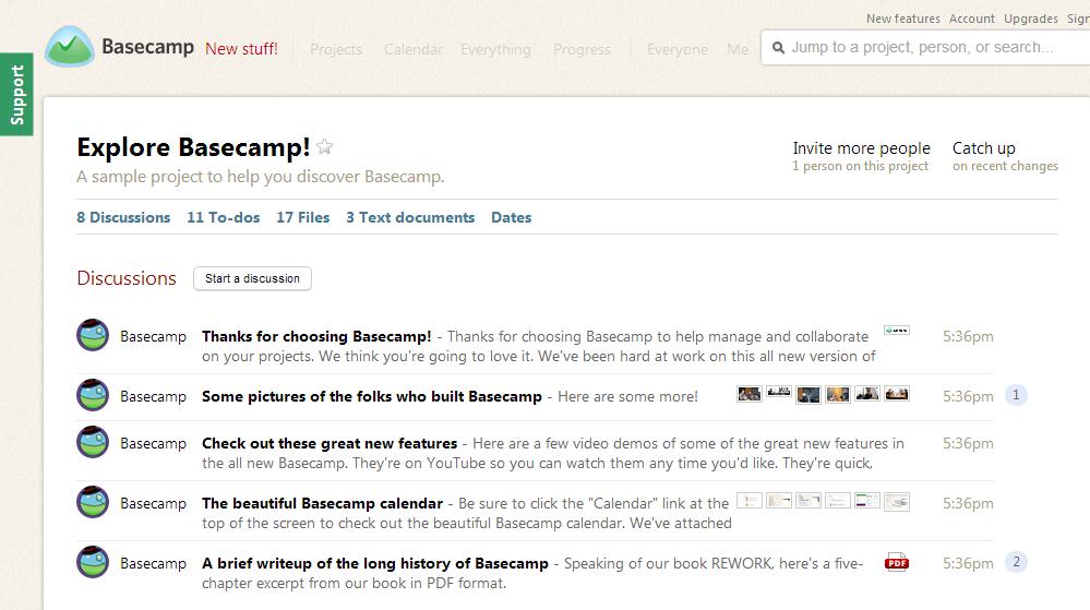 Basecamp overview