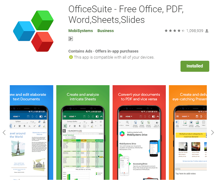 OfficeSuite for android