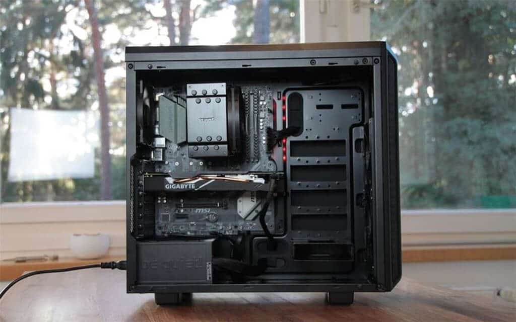 PC case uncovered