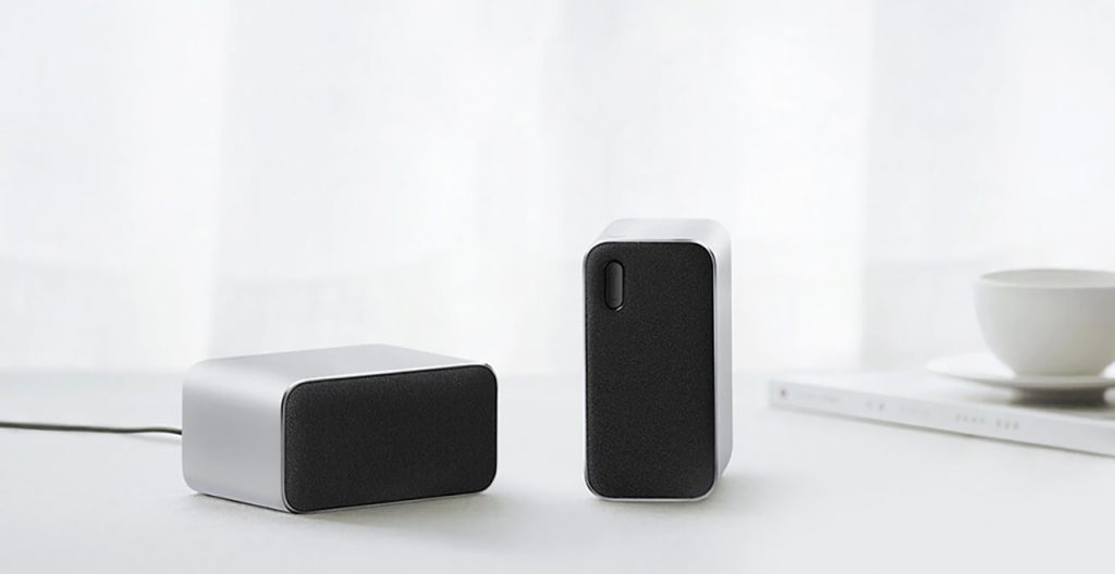USB speaker on table