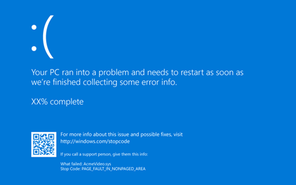 Your PC ran into a problem