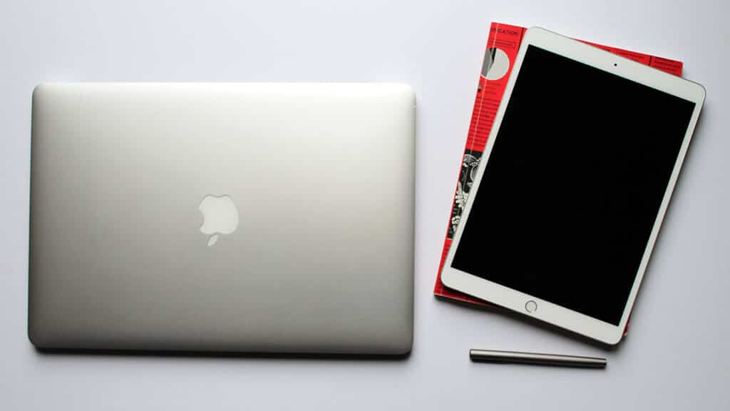A tablet is lighter than a laptop