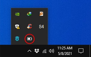 Add the Battery Icon to the Taskbar