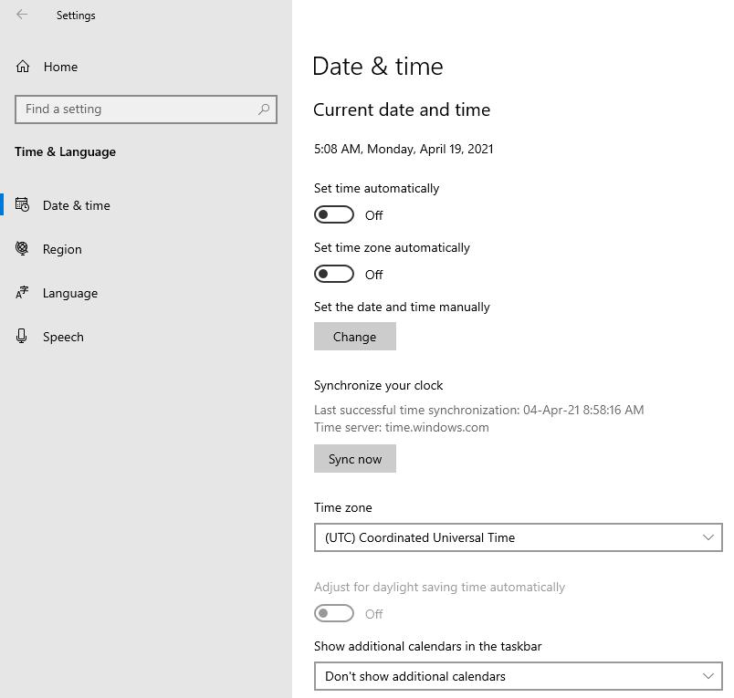 Change Time Zone On Windows 10 PC Laptop