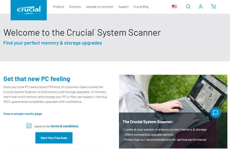 Crucial System Scanner