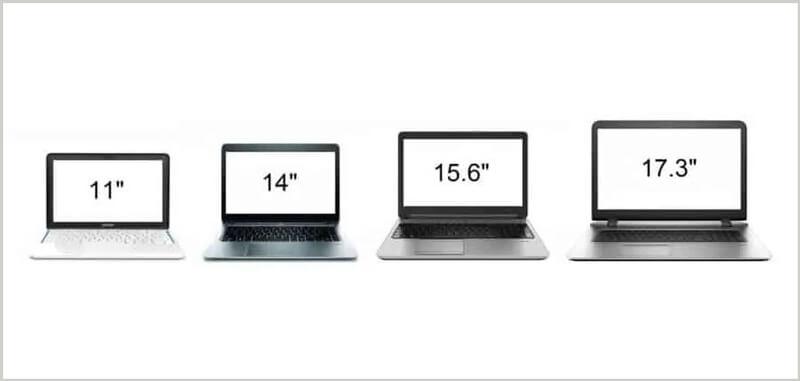 Different laptop size