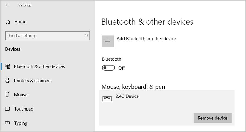 Disconnect External Mouse