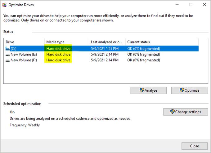 Disk drive optimization