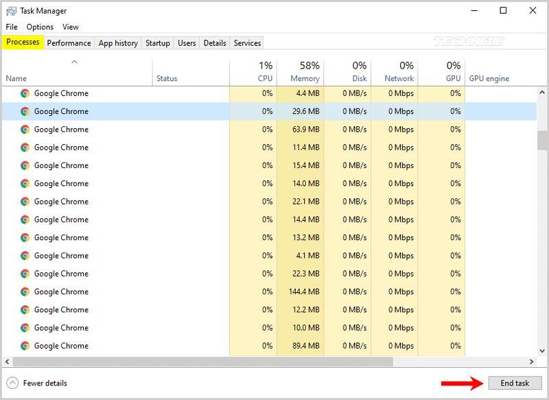 End program from task manager