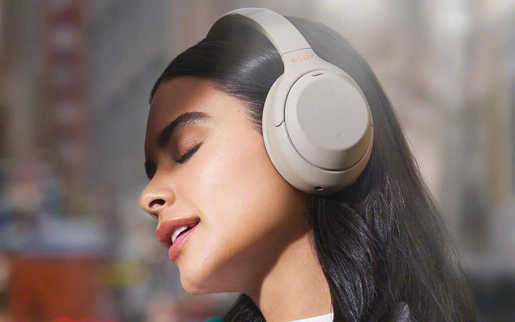 Girl Wearing Bluetooth Headphone