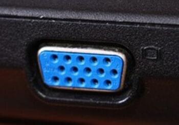 Laptop VGA port