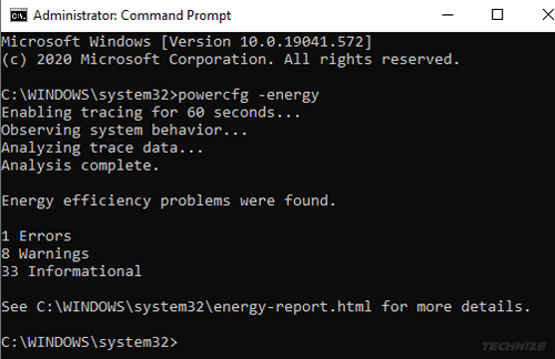 Laptop battery report cmd