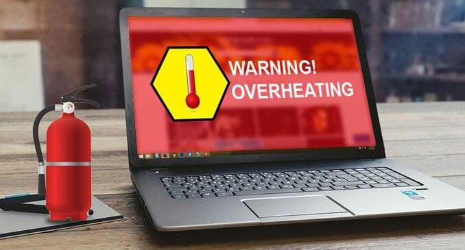 latpop overheat warning