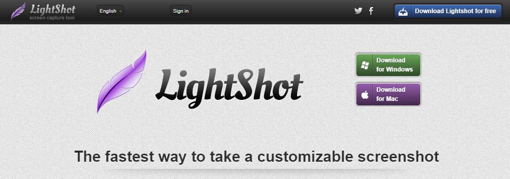 LightShot download page