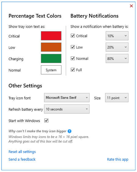 Microsoft Battery Percentage Icon