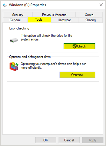 Optimize your Disk Drives