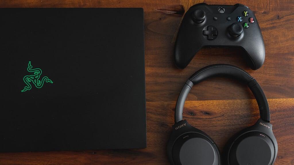 Razer gaming laptop on desk