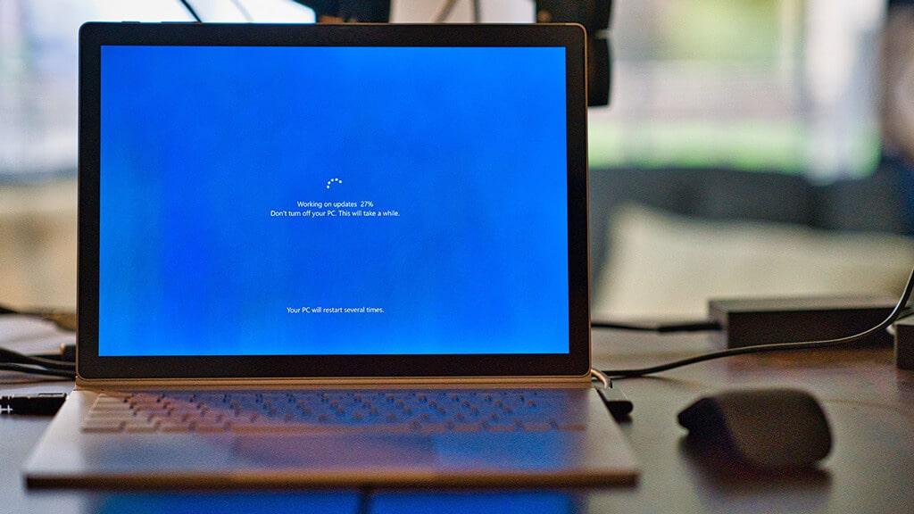 Restarting laptop