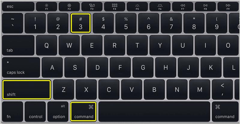 Screenshot on Mac 1