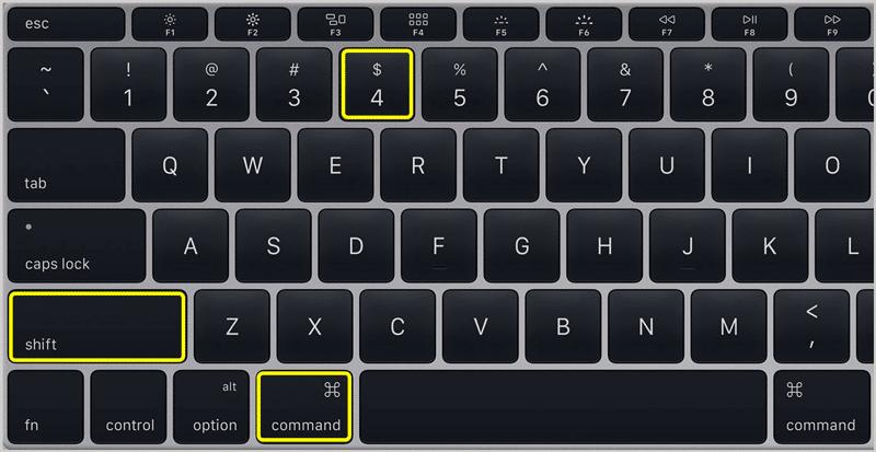 Screenshot on Mac 2