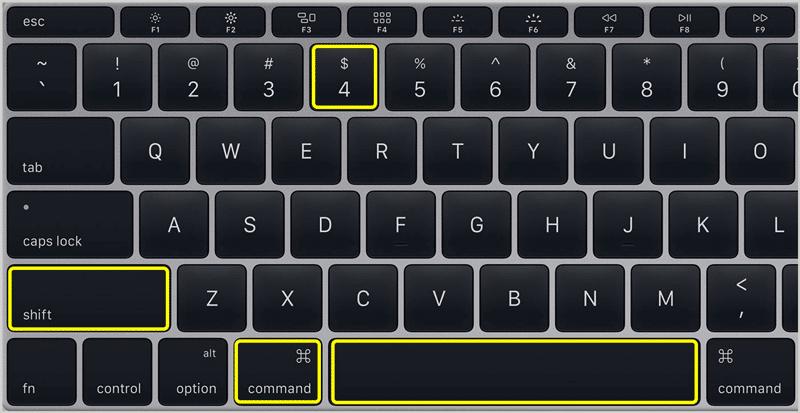 Screenshot on Mac 3