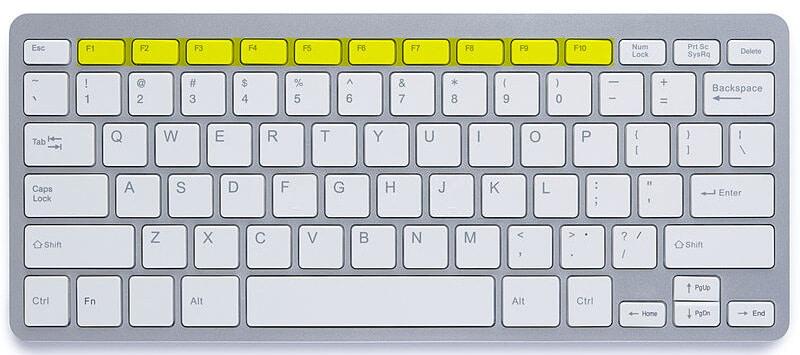 Small keyboard fn keys