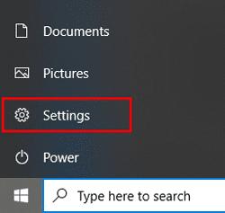 Start menu setting