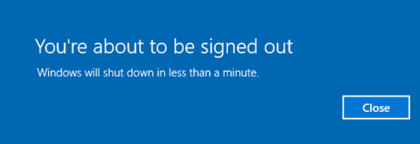 Windows 10 youre about to be signed out