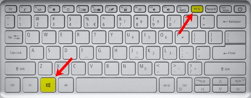 Windows + PrtScn keys
