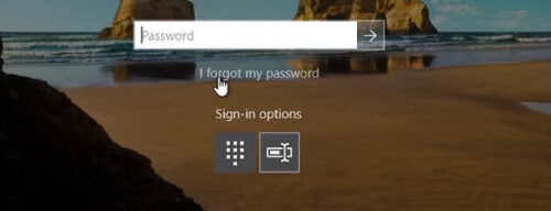 Windows sign in page