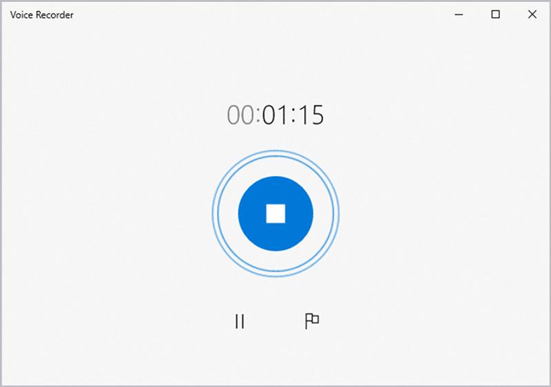 Windows voice recorder