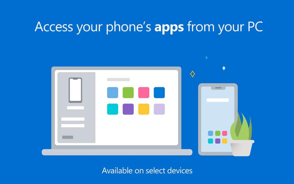 Your phone app to access apps and files